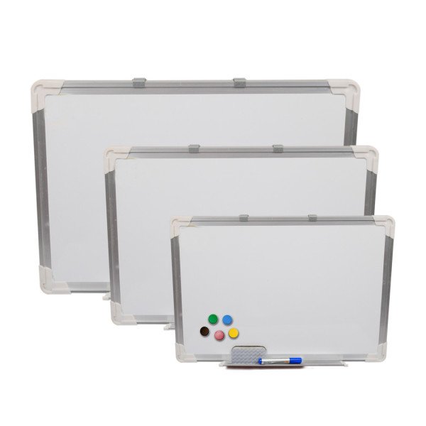 Magnetic Marker Whiteboard is your perfect choice for classroom or conference rooms. whiteboard surface against scratching and easier cleaning by dry erase eraser.