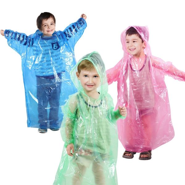 Totes Children's Rain Poncho,Kids Teens Rainwear