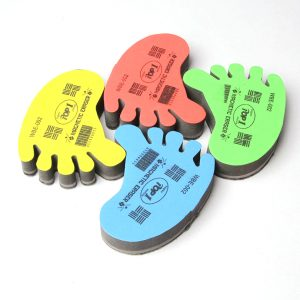 Foot shape dry wipe eraser