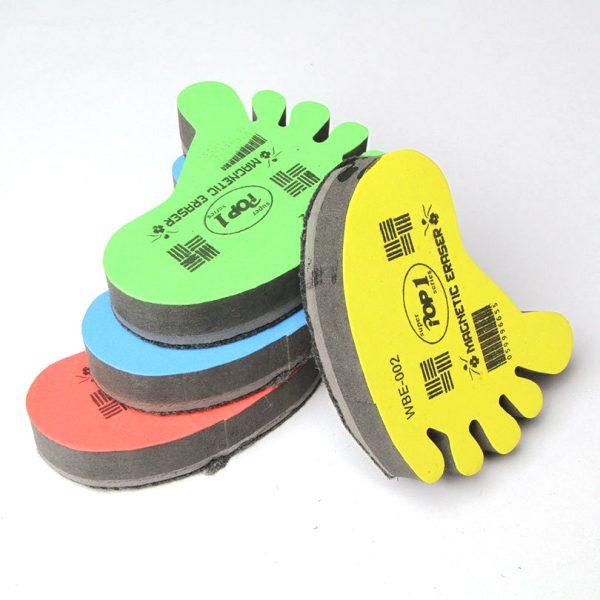 Foot shape magnetic dry erase board eraser