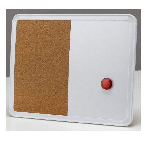 Combination White Cork Board Set
