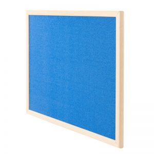 Wood Frame Fabric Covered Notice Cork Board