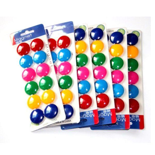 Round Fridge Magnets Paper Holder Set