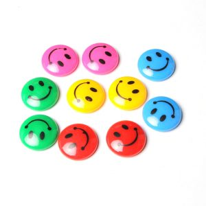 Smile Face Round Magnetic Button