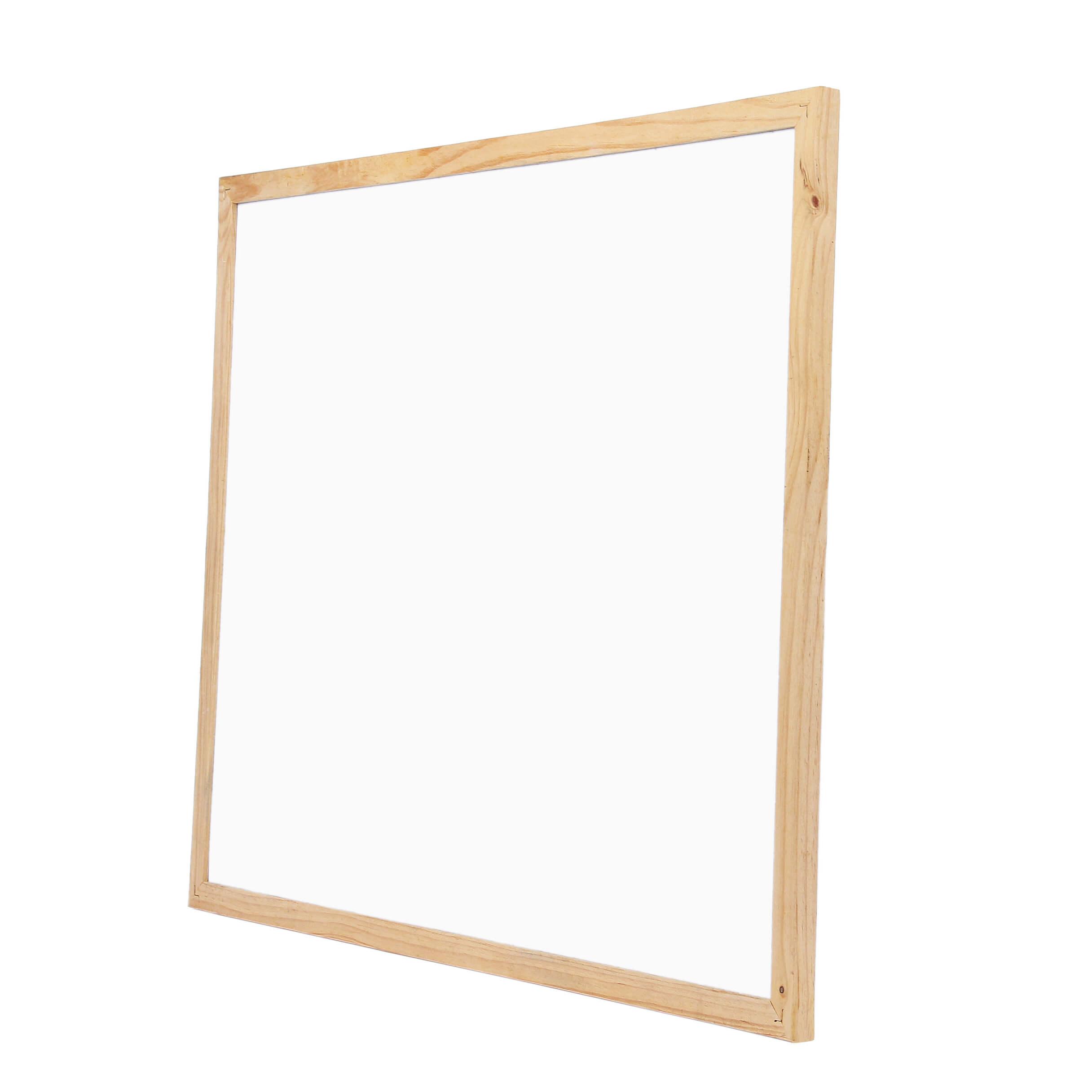 Lightweight Pine Frames Dry Wipe Board Wood Frame Whiteboard