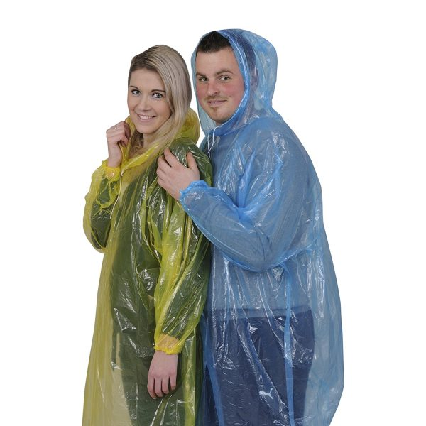 Disposable Rain Ponchos With Long Sleeves,Emergency Rain Poncho