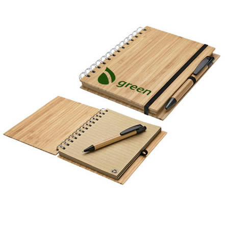 Bamboo Spiral Notebook | The Eco Spiral Notebook With Pen