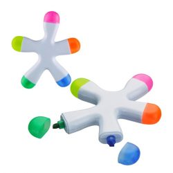 Five Colored Splash Highlighter Pen