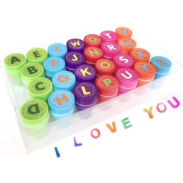 26 Pieces Alphabet Fun Stamps for Kids