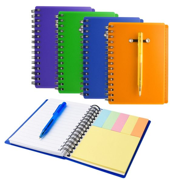 Recycled Notebook & Pen | Recycled Notebook with Matching Paper Pen