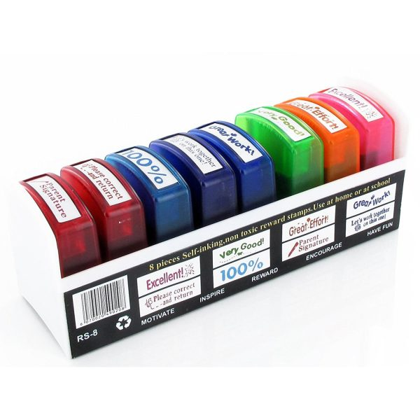Self-inking Spanish Teacher Stamps Set