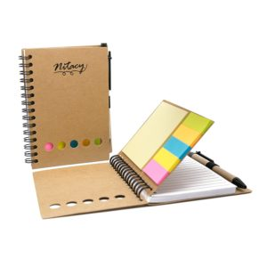Mini Recycled Notebook and Pen | Recycled Notebook with Matching Pen