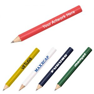 Personalized Round Golf Pencils - Traditional Pencils