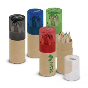 "12pcs 3.5"" Colored Pencil In Recycled Tube,Promotional Pencil Set"