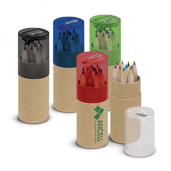 """12pcs 3.5"""" Colored Pencil In Recycled Tube,Promotional Pencil Set"""