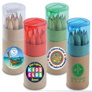 Colored Pencils in Cardboard Tube