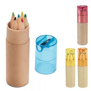 Recycled Newspaper Color Pencil Tube Color Pencil With Sharpener