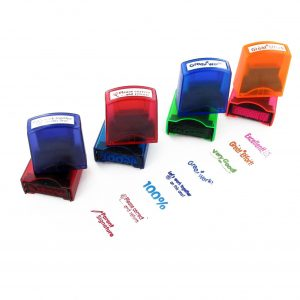 Self Inking Teacher Stamps With Stand